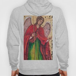 Archangel Gabriel Fresco With A Crackled Finish for #Society6 Hoody