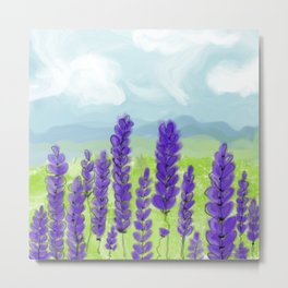 Lavenders. Landscape. Flowers. Metal Print