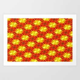 Window's colored pattern Art Print
