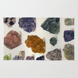 The Mineral Kingdom by Dr. Reinhard Brauns, 1903. Germany. Beautiful Gems Mineral Jewels Rug
