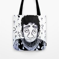 clueless Tote Bags featuring Clueless? by Drab