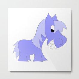 HERBIE HORSE - BLUE Metal Print