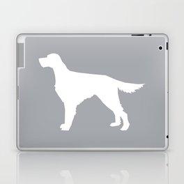 Irish Setter dog silhouette minimal dog breed portrait gifts for dog lover Laptop & iPad Skin