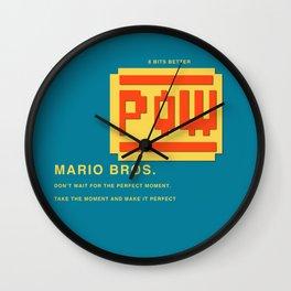 8 BITS BETTER - MARIO BROS. Wall Clock