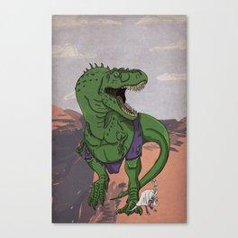 Hulkasaurus Rex - Superhero Dinosaurs Series Canvas Print
