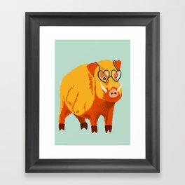 Benevolent Boar Framed Art Print