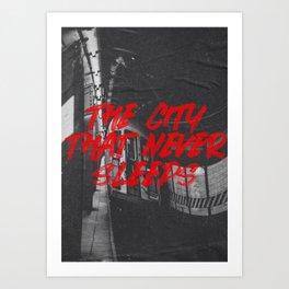 city that never sleeps Art Print