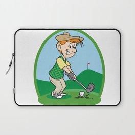 boy cartoon golf player Laptop Sleeve