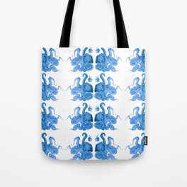 Lurking Blue Octopus  Tote Bag
