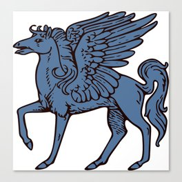 Pegasus shield 5. Canvas Print