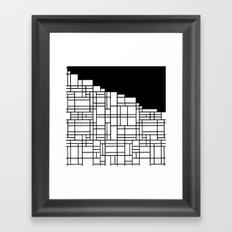 Map Black Boarder Framed Art Print