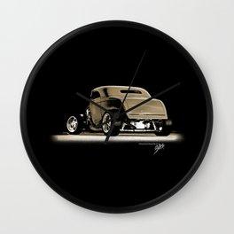 1932 Ford Hot Road Sepia Wall Clock