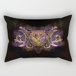 Triple Moon - Triple Goddess -Midnight shimmer Rectangular Pillow