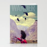 wander Stationery Cards featuring WANDER by Christel Sayegh