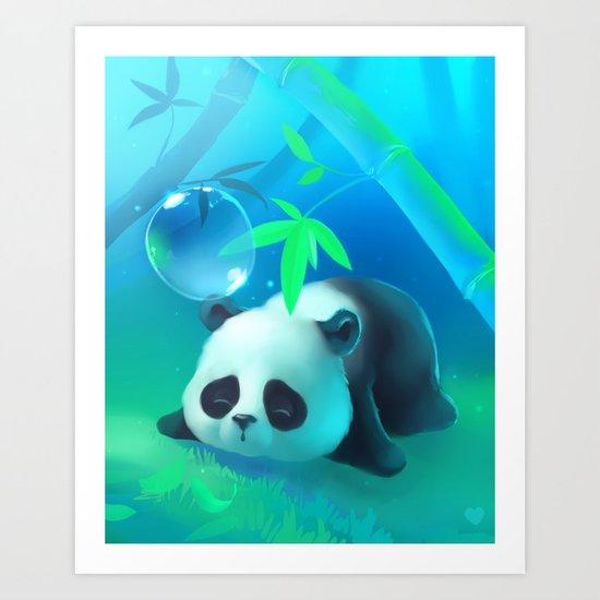 Bamboo Panda Art Print