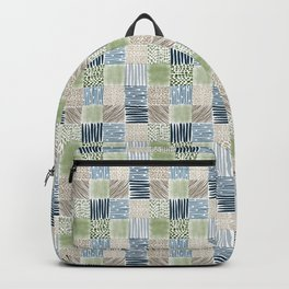 Jungle Set | hand illustrated quilt pattern Backpack