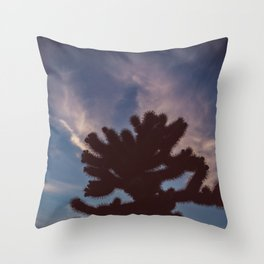 Cholla Cactus Garden VII Throw Pillow