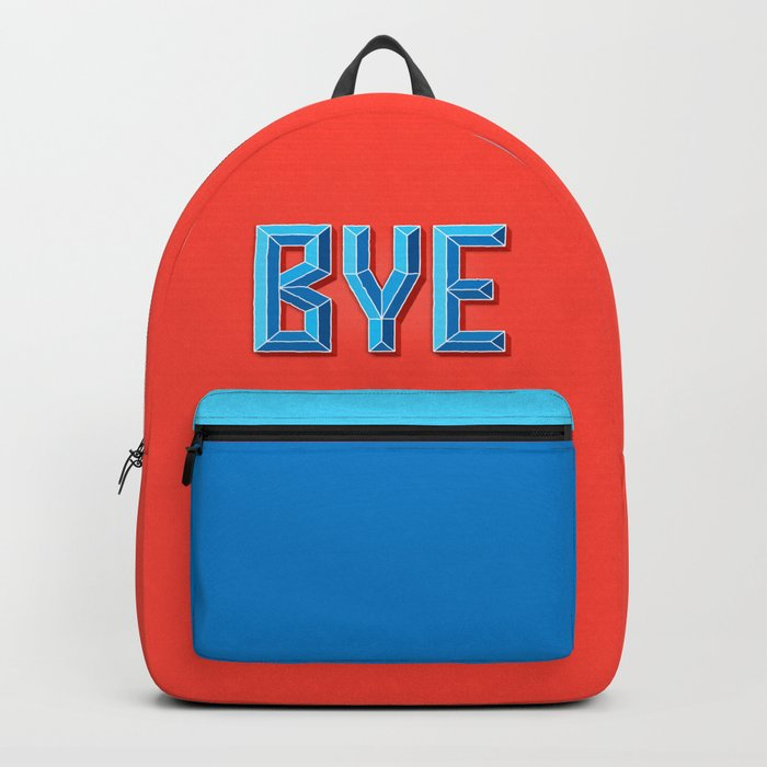 """""""BYE"""" 3D Letters (Hot Red, Blue) Backpack"""