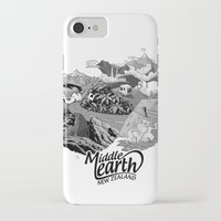 middle earth iPhone & iPod Cases featuring Middle Earth New Zealand by Guiso