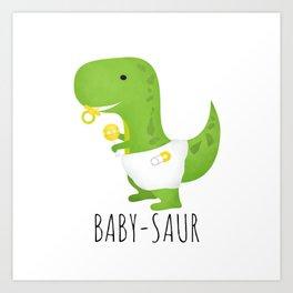 Baby-saur Art Print