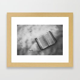 Black and white Book's little world Framed Art Print