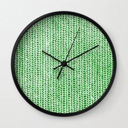 Stockinette Green Wall Clock