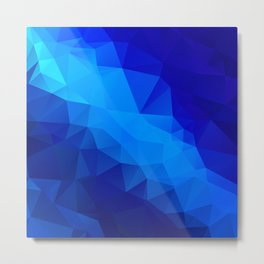 Abstract digital art polygon triangles Metal Print