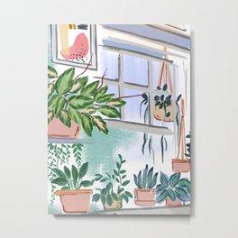 House Plants Illustration 011 Metal Print