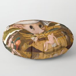 Hieronymus Bosch - The Visions of Tondal, Tondal's Vision, 1479 Floor Pillow