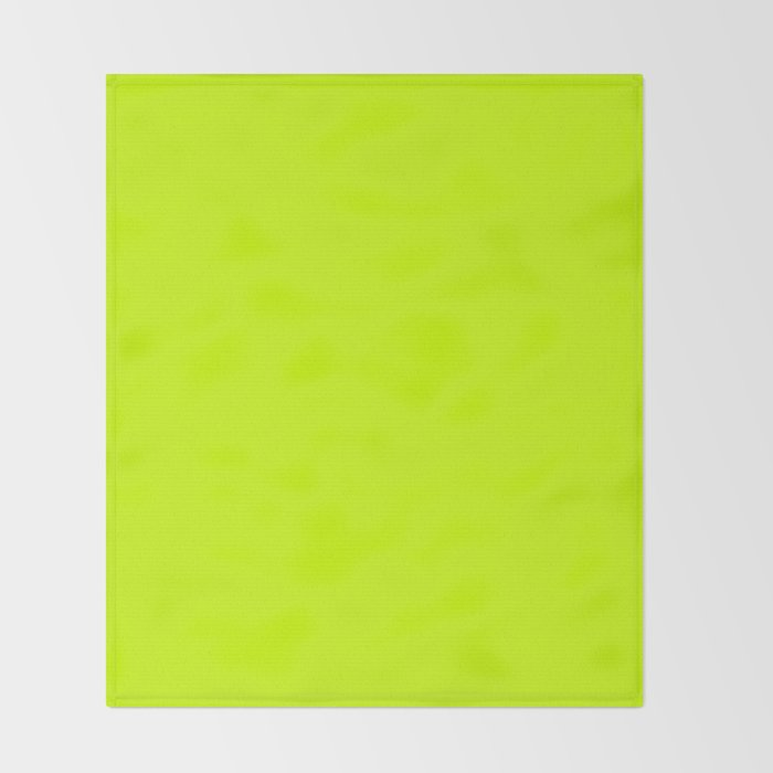 Bright green lime neon color Throw Blanket