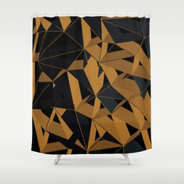 3D Futuristic GEO VI Shower Curtain