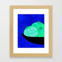 Pomegranates in bowl kitchen art print Framed Art Print