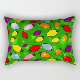 Christmas Bulb Popart by Nico Bielow Rectangular Pillow