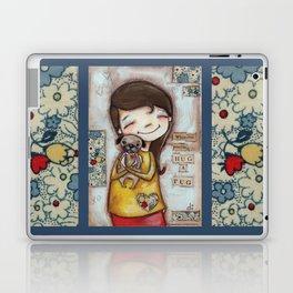 Pug Hug by Diane Duda Laptop & iPad Skin