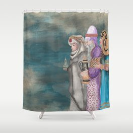 Michael's First Christmas, Three Wise Men Shower Curtain
