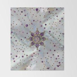 Dharma Wheel  - Dharmachakra Throw Blanket