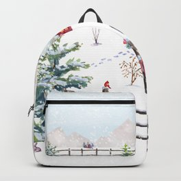 Christmas In The Country Backpack