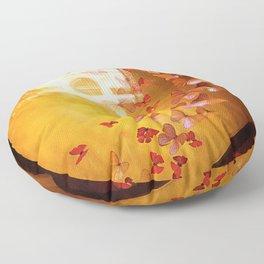 Butterflies in Window Floor Pillow