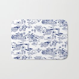 FLOOD IN ANTIQUE CHINESE PORCELAIN Bath Mat