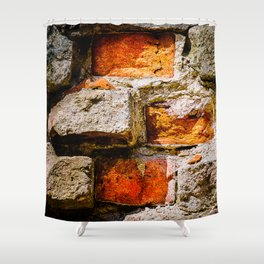 Bricks And Mortar Shower Curtain