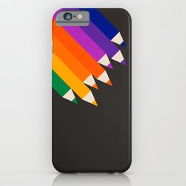 Rainbow Pencils iPhone Case