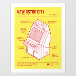 ARCADE CAB - NEW ASTRO CITY Art Print