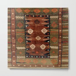 Belouch  Antique Khorassan Northeast Persian Rug Metal Print
