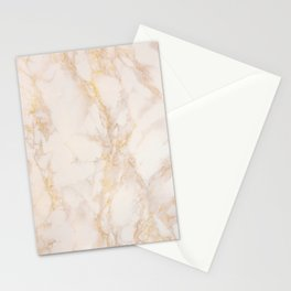 Gold Marble Natural Stone Gold Metallic Veining Beige Quartz Stationery Cards