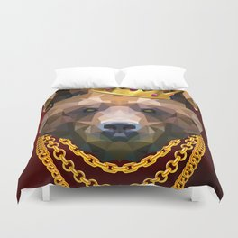 The King of Bears Duvet Cover