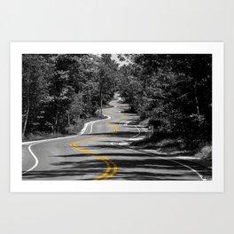 curvy road Art Print
