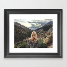 The storms come this way Framed Art Print