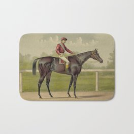 Grand Racer Kingston - Vintage Horse Racing Bath Mat