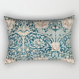 William Morris Honeysuckle pattern 1876 Rectangular Pillow