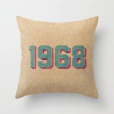 Vintage 1968 Throw Pillow